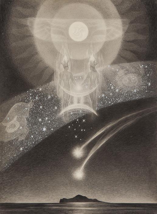 Andrey Avinoff (1884-1948) The Fall of Atlantis